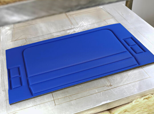 Thermoforming Foam Parts With Fabric Surface