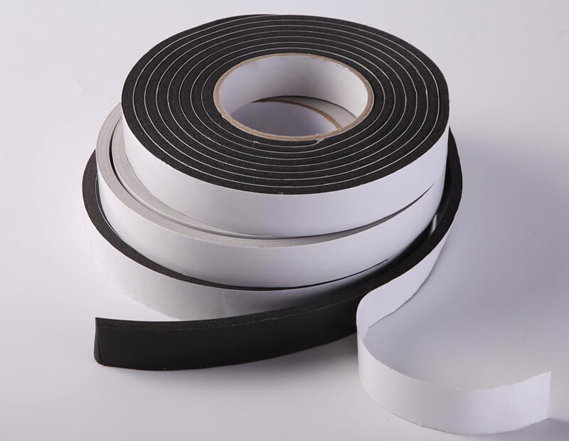 Closed Cell Black PVC Foam Tapes