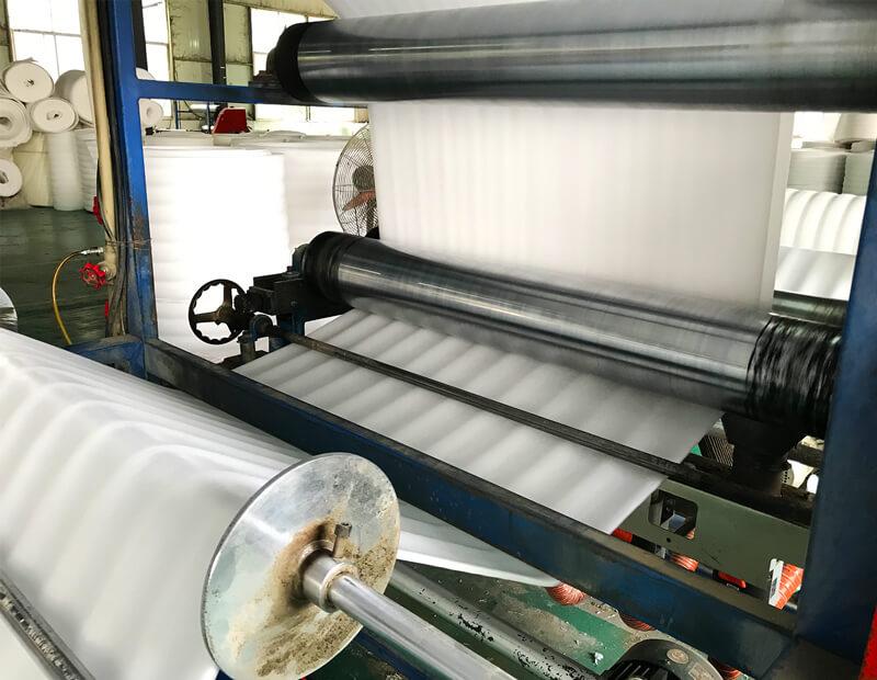 Crosslinked Polyethylene Foam Roll Fabrication