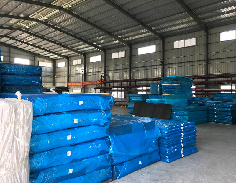 EVA Foam Sheets and Rolls in Warehouse