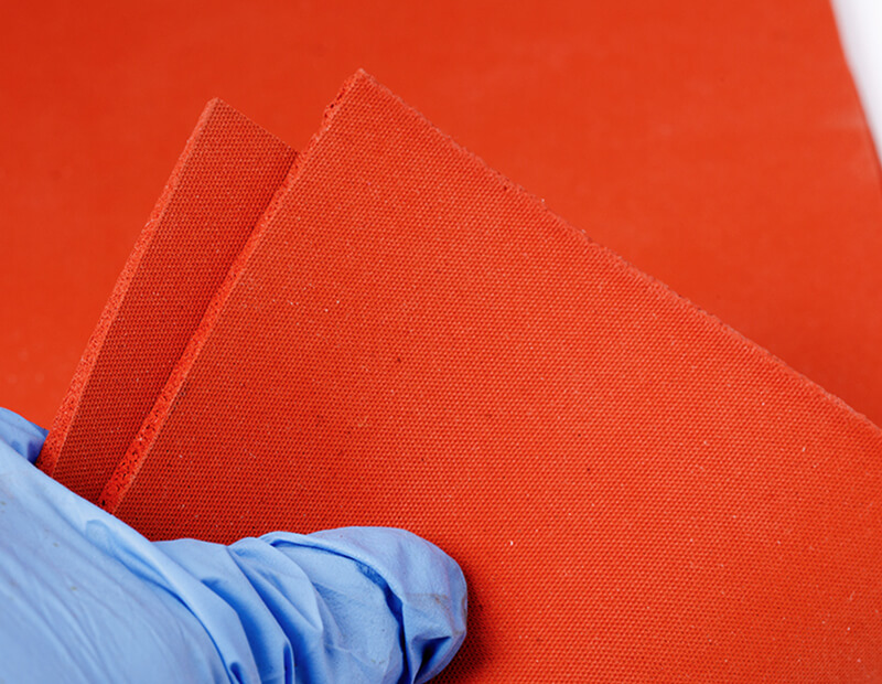 Orange Color Silicone Foam Rubber Sheet