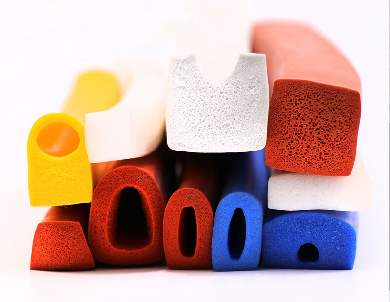 Silicone Sponge Extruded Profiles